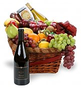 Wine & Fruit Baskets: Party Perfect